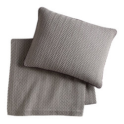 Peacock Alley - Veneto Blanket, Graphite, King - Classic style and consummate comfort go together in this 100 percent Egyptian cotton blanket. The herringbone pattern in neutral hues will seamlessly suit your traditional bedroom décor. And the feel against your skin? Sublime!