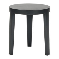 Safavieh - Wilma Side Table - Charcoal Grey - The tripod-style Wilma Stool is a chic addition to any room. Defined by its casual, elegant style it combines the functional design philosophy of modernism with the soft edges of organic style. Crafted with Bayur wood in charcoal grey painted finish.