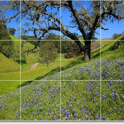 Picture-Tiles, LLC - Flower Photo Shower Tile Mural F277 - * MURAL SIZE: 36x48 inch tile mural using (12) 12x12 ceramic tiles-satin finish.