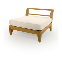 Westminster Teak Furniture - Aman Dais 6pc Premium Teak Furniture Daybed - This full-size teak day bed is configured out of the 3 distinct modular pieces from the Aman Dais Teak Daybed Collection.