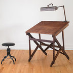 Keuffel and Esser Co. New York Industrial Folding Drafting Table by Homestead - This vintage drafting table is to die for. It is just so pretty.