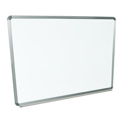 "Luxor - Luxor Wall mounted Whiteboard - WB4836W - The Luxor WB4836W Wall mounted series are made from painted steel magnetic whiteboard. Board Dimensions are 48"" x 36"" and includes mounting brackets and hardware (suitable for installation of drywall). There is aluminum frame around the board and an aluminum tray at 2"" deep to hold dry eraser and markers. There is a 10 year warranty on the board."