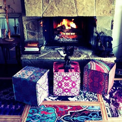 Poufs by designer Tracy Porter for Poetic Wanderlust - Archivally printed + handmade in our California art studio. Original designs created by Tracy Porter for Poetic wanderlust. Inspired artisan creations to feed your soul.