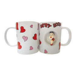 Westland - White Betty Boop Spinner 12 Oz Mug Covered in Red and Pink Hearts - This gorgeous White Betty Boop Spinner 12 Oz Mug Covered in Red and Pink Hearts has the finest details and highest quality you will find anywhere! White Betty Boop Spinner 12 Oz Mug Covered in Red and Pink Hearts is truly remarkable.