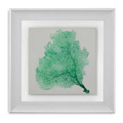Bassett Mirror - Bassett Mirror Framed Under Glass Art, Sea Fan VII - Sea Fan VII