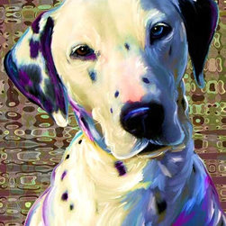Artpaw - Dalmatian Canvas Print - Drifter the Dalmatian is the subject of this lovely canvas art print. This modern dog art print, created with archival inks and richly saturated with bold color will look great in any room of your house. Any Dalmatian fan will love this original artwork.