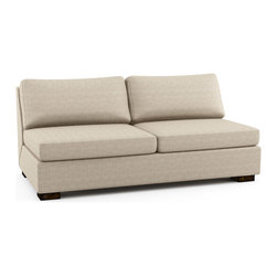 Viesso - Rio Armless Queen Sofa Bed (Custom) - A sofa bed that doesn't look like a sofa bed. This modern sofa bed works like a traditional pullout sleeper where the bed is folded inside of the frame and gets pulled out to use. But we offer two very comfortable mattress options, one natural latex and one spring, and a very stylish design.