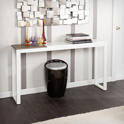 None - Holly & Martin Lydock White Console Table - Our Lydock tables carry the fresh look of mixed materials. The clean lines and white with burnt oak finish easily match to any style.