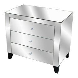 #CV2R046 Cleermont Mirrored Nightstand -