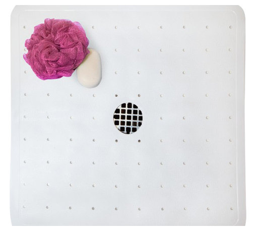 Tushies & Toes - Serenity Shower Mat, White - Looking for non-slip protection for your shower? Our Serenity Shower Mat is SlipDoctors verified to provide high-traction safety in beautiful style. Available in three colors.