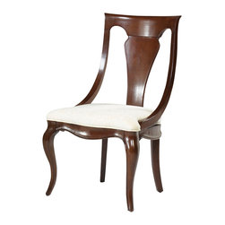 American Drew - American Drew Cherry Grove NG Sling Back Chair in Mid Tone Brown, Set of 2 - Cherry Grove New Generation line promises the same timeless quality and appeal with a full line of dining room, bedroom, home office, entertainment and occasional furniture. The line incorporates many elegant curves and graceful movement, and is updated with today? finishes, functionality and style. The inviting Mid tone brown finish makes the cherry veneers pop on each piece, along with Custom designed hardware. This line takes advantage of vertical space with higher case heights, and maximizes the utility of small spaces with hinged drop leaves on servers and tables. In combination, the collection takes functionality to a lifestyle level and allows urban or scaled-down living spaces to become entertainment areas, making small rooms work like big rooms. The New Generation of Cherry Grove is about honoring tradition while staying on trend.