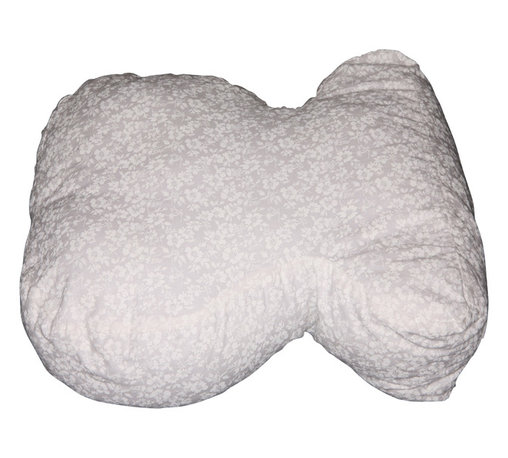 """Living Healthy Products - Sound Sleeper Pillow - Side Sleeper - Cut For Side Sleepers - Specially shaped pillow ensures that you sleep better and wake up more refreshed. Cut away's on the side and the proper fill density take the strain off your neck and shoulders. Made especially for side sleepers, but works for all positions. Washable cotton cover. 19"""" long x 17"""" wide. USA."""