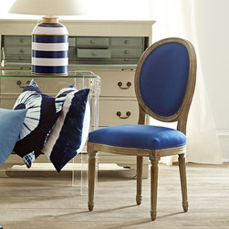Louis XVI Dining Chair - Royal Blue -