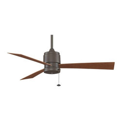 Fanimation - Fanimation Zonix Wet Location Fan, Oil Rubbed Bronze - FP4640OB - Sophisticated and stylish, The Zonix by Fanimation is the perfect eye candy for any contemporary room. The minimalist appearance and intelligent design of this three bladed ceiling fan are the perfect dichotomy of simple and smart. The Zonix, is wet location rated and includes blades which makes this the perfect ceiling fan for anyone who wants contemporary fashion without any high maintenance hassles. The Zonix is available in oil-rubbed bronze, satin-nickel and white finishes. The housing and switch cup of the Zonix are made of all-weather composite material, instead of steel and are completely rust proof. Optional controls are available.