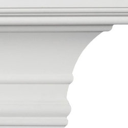 uDecor - CM-5031 Crown Molding - Crown molding is manufactured with a dense architectural polyurethane compound (not Styrofoam) that allows it to be semi-flexible and 100% waterproof. This molding is delivered pre-primed for paint. It is installed with architectural adhesive and/or finish nails. It can also be finished with caulk, spackle and your choice of paint, just like wood or MDF. A major advantage of polyurethane is that it will not expand, constrict or warp over time with changes in temperature or humidity. It's safe to install in rooms with the presence of moisture like bathrooms and kitchens. This product will not encourage the growth of mold or mildew, and it will never rot.