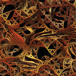 My Wonderful Walls - Mechanical Wall Sticker Decal Art – Twisted by Lyle Hatch, Small - Product:  fractal art wall sticker decal