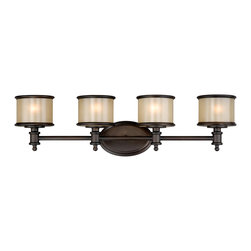 Vaxcel - Carlisle Noble Bronze 4 Light Vanity - Vaxcel CR-VLU004NB Carlisle Noble Bronze 4 Light Vanity