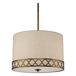 Robert Abbey - Addison Pendant, Weathered Brass - -3-100W Max.