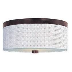 ET2 - ET2 E95102-100 Elements 3-Bulb Flush Mount Indoor Ceiling Fixture - Fabric Shade - Product Features: