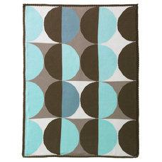 giggle Baby Blankets | Geometric Blue Multi Knit Blanket