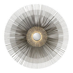Starburst Mirror - Oversize wall art, whether it be in the traditional sense or like this starburst mirror, will be popping up everywhere. I like using this as a focal point in the room, either above a headboard or mantel.