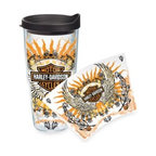 Tervis - Tervis Harley-Davidson Lady Rider Wrap 24-Ounce Tumbler - Show off your love for your favorite motorcycle with this Harley-Davidson Lady Rider wrap tumbler. Tervis Tumblers are made with double walled insulation to keep hot drinks hot and cold drinks cold.