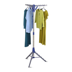 Honey Can Do - Tripod Drying Rack - Tripod Air Dryer. Foldable for easy storage. Holds up to 36 garments. Energy saving. Assembly required. 26 in. W x 26 i. D x 64.5 in. H