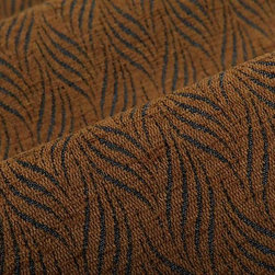 Chenille Appeal Upholstery Fabric in Teddy Bear Brown - Chenille Appeal Upholstery Fabric in Teddy Bear Brown is a hearty cotton blend ideal for upholstering sofas, chairs, and seats or accent pillows. This unique woven upholstery has a great hand with a feather-like pattern created with blue threads. This high quality designer fabric is available online, by the yard, at FabricSeen's signature discount. American made with 55% cotton, 28% polyester, and 17% viscose. Passes CB117E and 30,000 Wyzenbeek. Cleaning Code S – Solvent-based cleaning agents only (water-free, dry cleaning). Width: 54″ Repeat: 1 3/4″ W X 2 7/8″ H