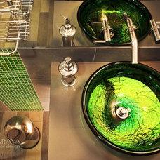 Contemporary Powder Room by Maraya Interior Design