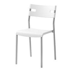Johanna Jelinek - LAVER Chair - Chair, silver color, white