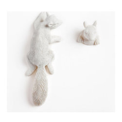 Imm Living Hide And Seek - Add a little woodland whimsy to your decor with the Imm Living Hide and Seek hooks by Cecilia Lundgren.