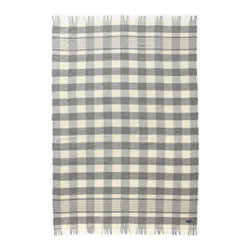 Faribault Woolen Mill Co. - 1920 Buffalo Check Wool Throw, Gray/Natural - Like our Mill Street blanket, this throw was inspired by a historic pattern we discovered in the company archive. In this case, it was a check blanket made in 1920. We've updated the traditional check to make it a bit more contemporary. Permanently moth-proofed.
