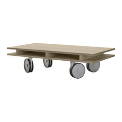 Commonhouse Furniture - Caster Table - This versatile table can be moved to any room in your home or office depending on your needs. Roll it into the kids' room for art projects — or into the living room — as an extra place for chips and dip on Super Bowl Sunday.