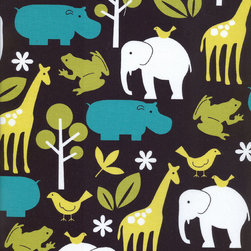 Persnickety Baby Bedding - Fabric by the Yard - Zoo Print - Fabric by the Yard - Zoo Print