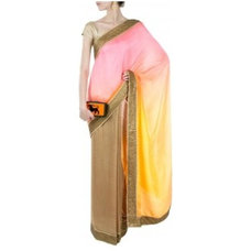 Pink and yellow shaded sari available only at Pernia's Pop-Up Shop.