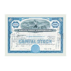 """Buyenlarge.com, Inc. - Phelps Dodge Corporation- Gallery Wrapped Canvas Art 12"""" x 18"""" - Stock certificates are like currency, sharing value and beauty on the face.  This cancelled certificate captures a moment in history as technology advances and big business moves forward."""