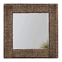 Bassett Mirror - Woven Hemp Square Wall Mirror - Woven Hemp - Square. Measures: 36 in. W x 36 in. H.