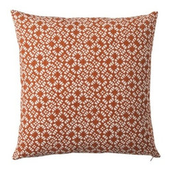 Threshold Clover Toss Pillow, Rust
