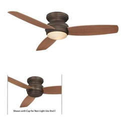 Minka Aire - Minka Aire Traditional Concept 52 Ceiling Fan in Oil Rubbed Bronze - Minka Aire Traditional Concept 52 Model F594-ORB in Oil Rubbed Bronze with Medium Maple Colored ABS Finished Blades.