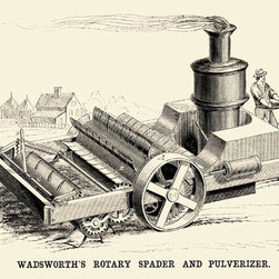 Buyenlarge - Wadsworths Rotary Spader and Pulverizer 28x42 Giclee on Canvas - Series: Farm Machinery