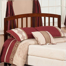 Atlantic Furniture - Atlantic Furniture Richmond Twin Headboard in Antique Walnut-Queen - Atlantic Furniture - Headboards - R188844 - The sleek bowed style and traditional slats compile a classic look for the Richmond headboard. The open head rail design promotes a vertical synergy that will mate nicely with any room setting .