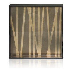 Belle & June - Grass Styx Square Tray - Tray chic. That's what you'll say when you see this elegant grass styx tray. The clean lines and rich, golden palette can highlight your buffet, coffee table or sideboard when not in use.