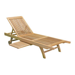 Cancun Outdoor Eucalyptus Chaise Lounge Chair