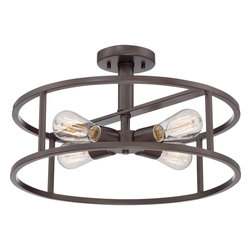 Quoizel - Quoizel QZ-NHR1718WT - The New Harbor collection is completely unadorned for an open, airy feel.  The Western Bronze finish complements many decor styles and the Victorian Edisonstyle bulb adds the perfect vintage touch to this understated collection.