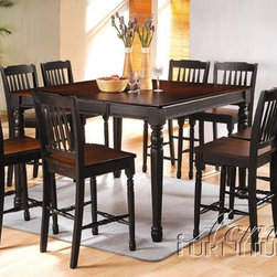 Acme Furniture - Carriage House 9 Piece Counter Height Table Set - 7905-9set - Includes Counter Height Table and 8 Counter Height Chairs