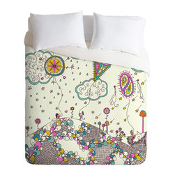 DENY Designs - Rebekah Ginda Design Kites To The Sky Duvet Cover - Turn your basic, boring down comforter into the super stylish focal point of your bedroom. Our Luxe Duvet is made from a heavy-weight luxurious woven polyester with a 50% cotton/50% polyester cream bottom. It also includes a hidden zipper with interior corner ties to secure your comforter. it's comfy, fade-resistant, and custom printed for each and every customer.