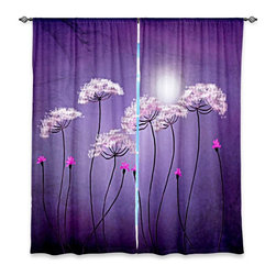 """DiaNoche Designs - Window Curtains Lined - Tara Viswanathan Moondance - Purchasing window curtains just got easier and better! Create a designer look to any of your living spaces with our decorative and unique """"Lined Window Curtains."""" Perfect for the living room, dining room or bedroom, these artistic curtains are an easy and inexpensive way to add color and style when decorating your home.  This is a woven poly material that filters outside light and creates a privacy barrier.  Each package includes two easy-to-hang, 3 inch diameter pole-pocket curtain panels.  The width listed is the total measurement of the two panels.  Curtain rod sold separately. Easy care, machine wash cold, tumbles dry low, iron low if needed.  Made in USA and Imported."""