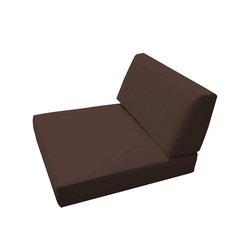 Trijaya Living - Sunbrella Universal Wicker Armless Chair Cushion, Bay Brown - Sunbrella Universal Wicker Armless Chair Cushion