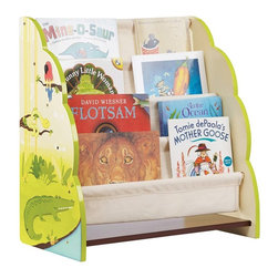 Guidecraft - Guidecraft Jungle Party Book Display Multicolor - G86900 - Shop for Childrens Toy Boxes and Storage from Hayneedle.com! The Guidecraft Jungle Party Book Display is a toddler-sized rack that encourages kids to read and return their books for a neat and organized room. This wooden display features four canvas pockets that provide plenty of space to showcase the cover illustrations of every book comic and magazine clearly so children can always find their favorite stories in time to be tucked in. The side panels are hand-painted in a jungle theme with happy animals like an alligator parrot swinging monkeys swimming turtles and more. Some assembly is required.About GuidecraftGuidecraft was founded in 1964 in a small woodshop producing 10 items. Today Guidecraft's line includes over 160 educational toys and furnishings. The company's size has changed but their mission remains the same; stay true to the tradition of smart beautifully crafted wood products which allow children's minds and imaginations room to truly wonder and grow.Guidecraft plans to continue far into the future with what they do best while always giving their loyal customers what they have come to expect: expert quality excellent service and an ever-growing collection of creativity-inspiring products for children.