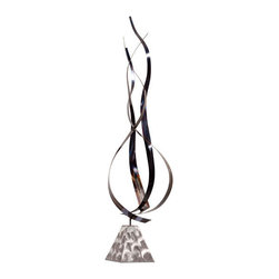 ZUO - Wallace Sculpture - Like twisting flames, the Wallace Sculpture has a cool metal burn. Curved at the base and whispy toward the top. Gorgeous next to a fireplace.